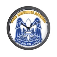 DUI - 82nd Airborne Division With Text Wall Clock