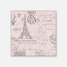 """vintage paris eiffel tower  Square Sticker 3"""" x 3"""""""
