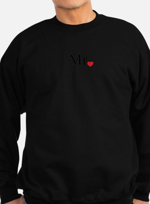 Mrs with heart dot - part of Mr and Mrs set Sweats
