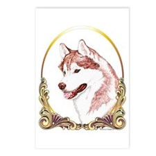 Red Husky Christmas/Holiday Postcards (Package of