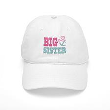 Big Sister Cute Nautical Anchor and Heart Baseball