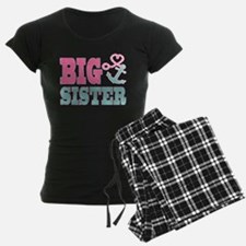 Big Sister Cute Nautical Anchor and Heart Pajamas