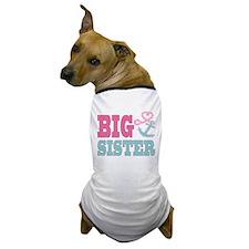 Big Sister Cute Nautical Anchor and Heart Dog T-Sh