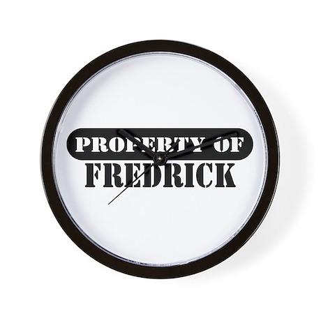 Property of Fredrick Wall Clock