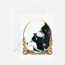 Siberian Huskies Holiday/Xmas Greeting Cards (Pack