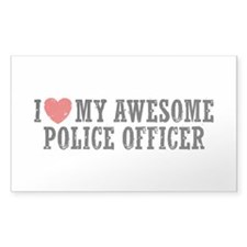 I Love My Awesome Police Officer Decal