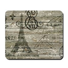 vintage paris eiffel tower scripts Mousepad