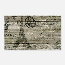 vintage paris eiffel tower scripts 3'x5' Area Rug