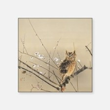 """Early Plum Blossoms by Nish Square Sticker 3"""" x 3"""""""