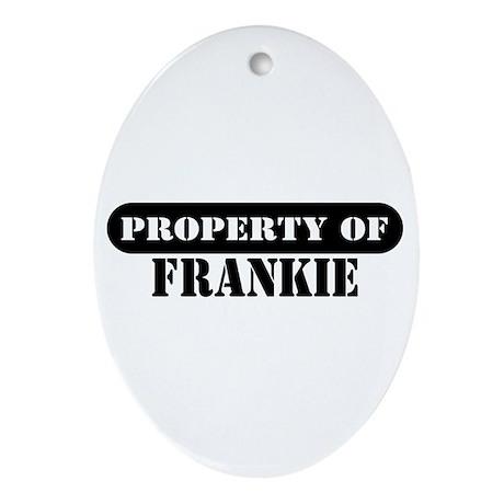 Property of Frankie Oval Ornament