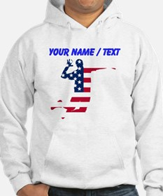 American Flag Volleyball Spike Hoodie
