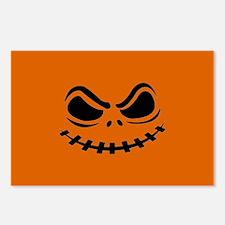 Halloween Pumpkin Face Postcards (Package of 8)