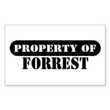 Property of Forrest Rectangle Decal