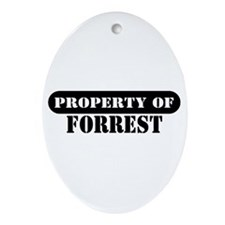 Property of Forrest Oval Ornament