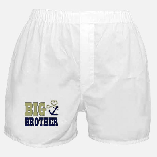 Big Brother Cute Nautical Anchor and Heart Boxer S