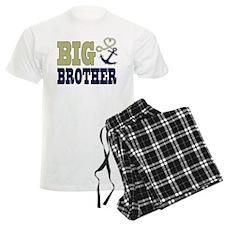 Big Brother Cute Nautical Anchor and Heart Pajamas