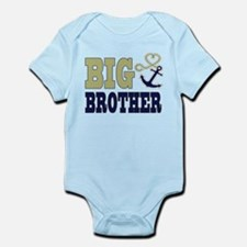 Big Brother Cute Nautical Anchor and Heart Body Su