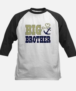 Big Brother Cute Nautical Anchor and Heart Basebal