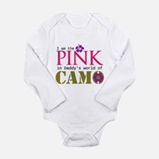 Pink In Daddys Camo World! Long Sleeve Infant Body