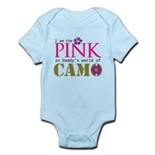 Pink In Daddys Camo World! Infant Bodysuit