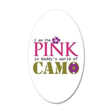 Pink In Daddys Camo World! Wall Decal