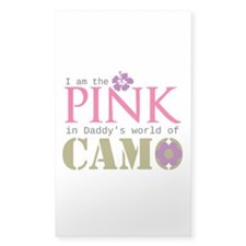 Pink In Daddys Camo World! Decal