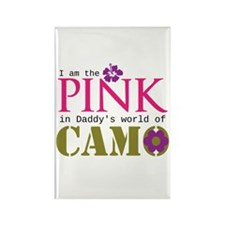 Pink In Daddys Camo World! Rectangle Magnet