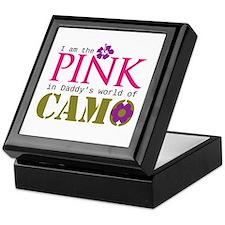 Pink In Daddys Camo World! Keepsake Box