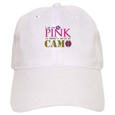 Pink In Daddys Camo World! Baseball Cap