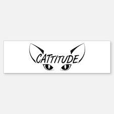 Cattitude Bumper Bumper Sticker