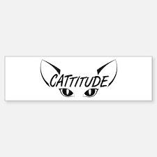 Cattitude Sticker (Bumper)