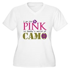 Pink In Daddys Camo World! Plus Size T-Shirt
