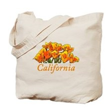 Stylized California Poppies Tote Bag