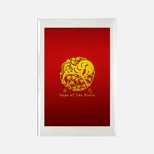 Year of The Horse Papercut Rectangle Magnet (10 pa
