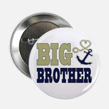 "Big Brother Cute Nautical Anchor and Heart 2.25"" B"