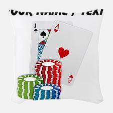 Custom Blackjack Woven Throw Pillow