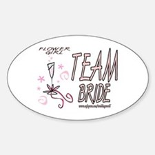 Flower Girl Oval Decal
