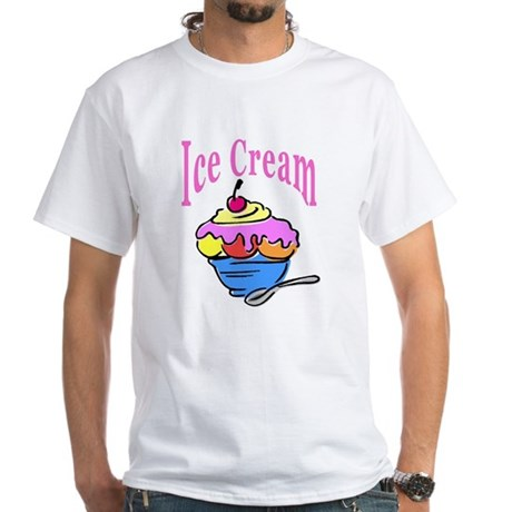Ice Cream White T-Shirt