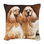 Cocker Spaniels Woven Throw Pillow