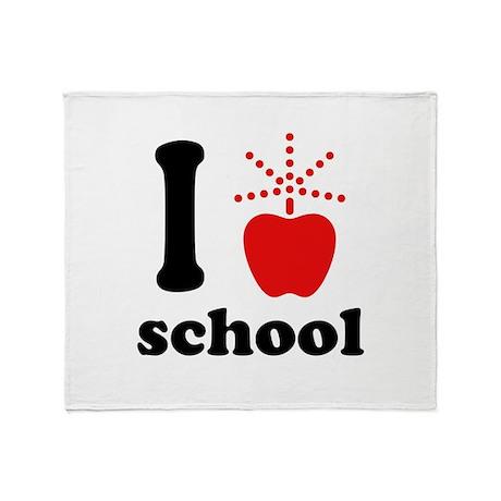 I Love School Throw Blanket