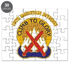 DUI - 10th Mountain Division with Text Puzzle
