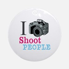 I Shoot People Ornament (Round)