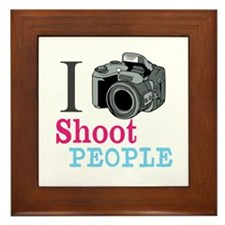 I Shoot People Framed Tile