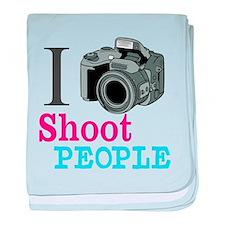 I Shoot People baby blanket