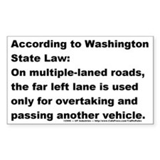 Passing Lane Rectangle Decal