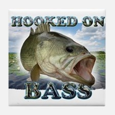 Hooked on Bass Tile Coaster