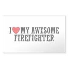 I Love My Awesome Firefighter Decal