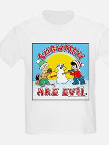 Snowmen Are Evil! Kids T-Shirt