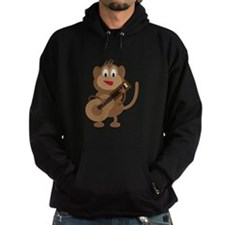 Monkey Playing Guitar Hoody