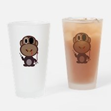 Evil Monkey Drinking Glass